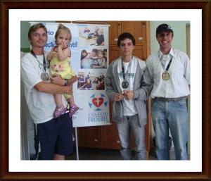 Donaldo (bronze), Leonardo (prata) e Rodrigo (ouro)