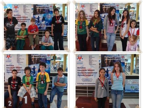 Destaques de Categoria: campeões com Medalhões e Vice/terceiros com medalhas.