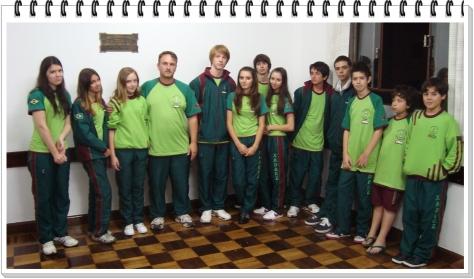 Equipe no Clube de Xadrez de Curitiba