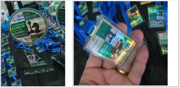 FENAC – Catanduva-SP – Premiação de alta qualidade: troféus e medalhas em vidro com adesivos brilhantes!