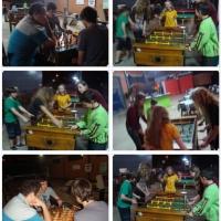 Equipe AXSBS/FMD e Amigos confraternização no GreenBowl Boliche após Circuito de Xadrez Rápido em São Bento do Sul