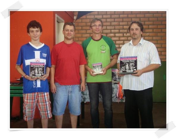 Pódium do Masculino do 41º Campeonato Municipal Masculino de São Bento do Sul e 10º Feminino – I Copa Di-Cercal Eletro-Info / Green Bowl