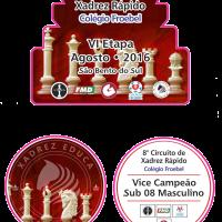 VI Etapa do 8º Circuito de Xadrez Rápido Colégio Froebel – E86