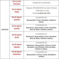 XADREZ EDUCA INFORMA - Mais uma alteração na data nos JESC Estadual em São Bento do Sul !!