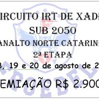 18, 19 e 20 de AGOSTO - SÃO BENTO DO SUL - I CIRCUITO IRT DE XADREZ SUB 2050 PLANALTO NORTE CATARINENSE - 2ª Etapa