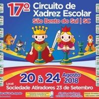 20 a 24 de AGOSTO - 17º CIRCUITO DE XADREZ ESCOLAR de São Bento do Sul