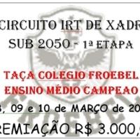 08 a 10 de MARÇO – 1ª ETAPA do 3º CIRCUITO IRT SUB 2050 - Taça Colégio Froebel Ensino Médio Campeão