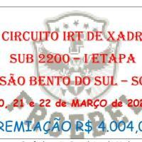 4º circuito irt de xadrez sub 2200 - 1 etapa - taça ensino médio campeão colégio froebel - 20, 21 E 22 de março