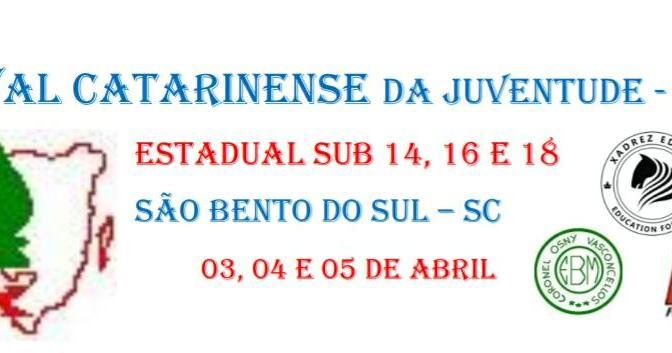 fecaj – festival catarinense da juventude – sub 14, 16 e 18 absoluto e feminino – 3, 4 e 5 de abril