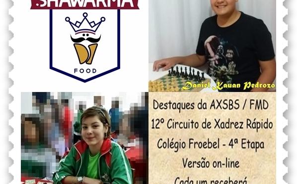 destaques da axsbs/fmd no 12º CIRCUITO DE XADREZ RÁPIDO COLÉGIO FROEBEL – 4ª ETAPA
