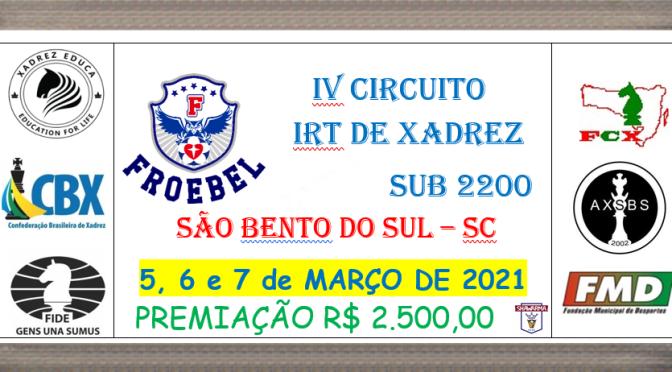 IRT SUB 2200 – 05, 06 E 07 DE março de 2021! – EVENTO PRESENCIAL !!