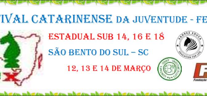FECAJ 2020/2021 – SÃO BENTO DO SUL – 12 a 14 DE MARÇO DE 2021