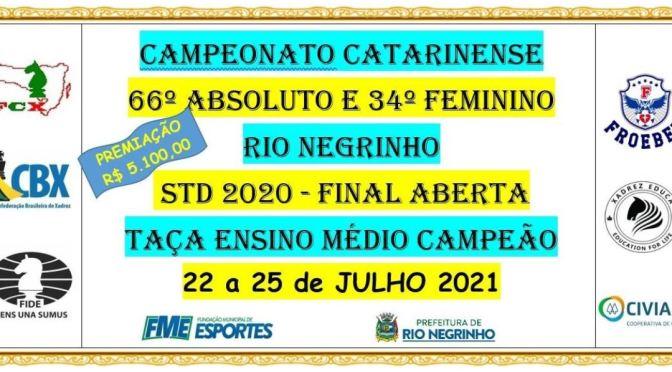CAMPEONATO CATARINENSE ABSOLUTO E FEMININO