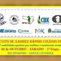 13º CIRCUITO DE XADREZ RÁPIDO COLÉGIO FROEBEL – 3ª ETAPA - 02 DE OUTUBRO
