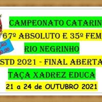 67º CAMPEONATO ABSOLUTO CATARINENSE e 35º FEMININO - RIO NEGRINHO - 21 a 24 de OUTUBRO
